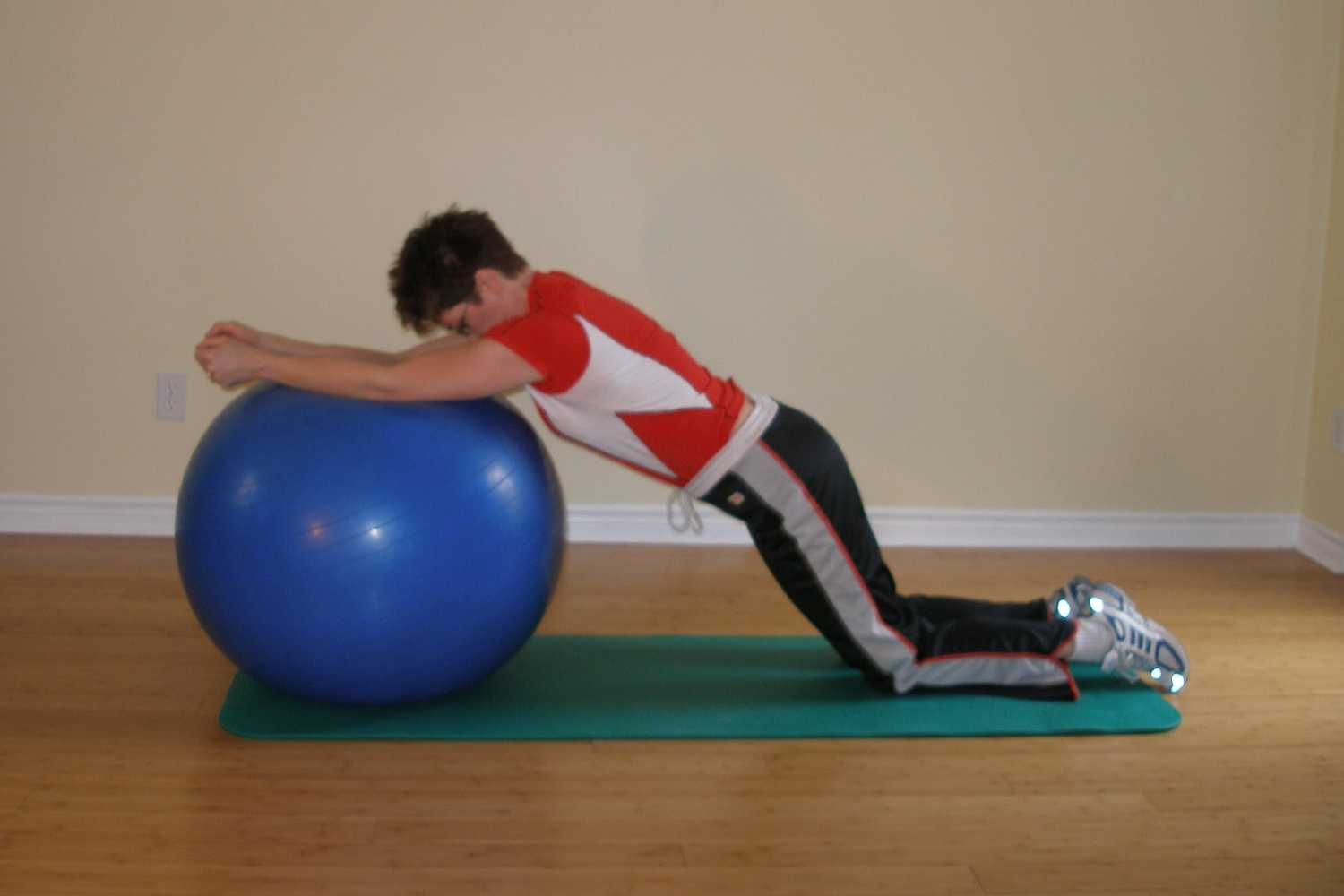 rolling plank on ball