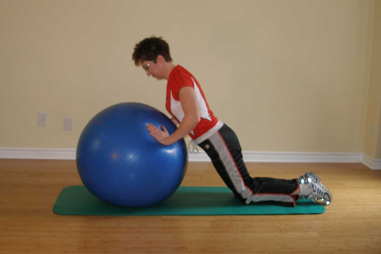 kneeling push-up plus start position