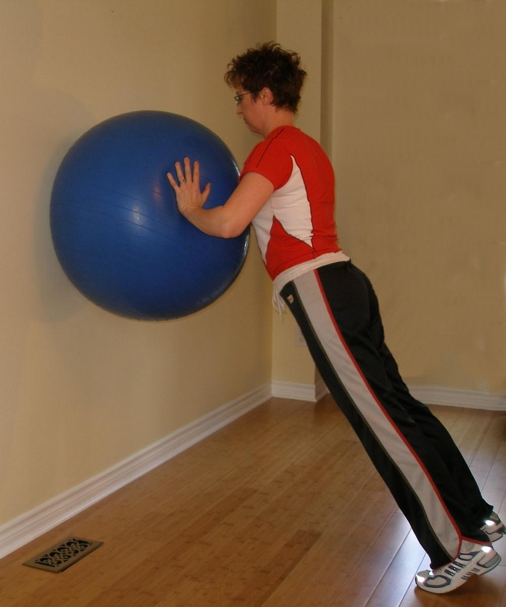 wall push up ball exercise