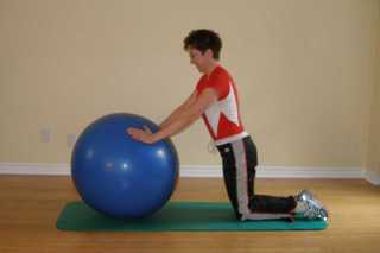 ball  plank on knees