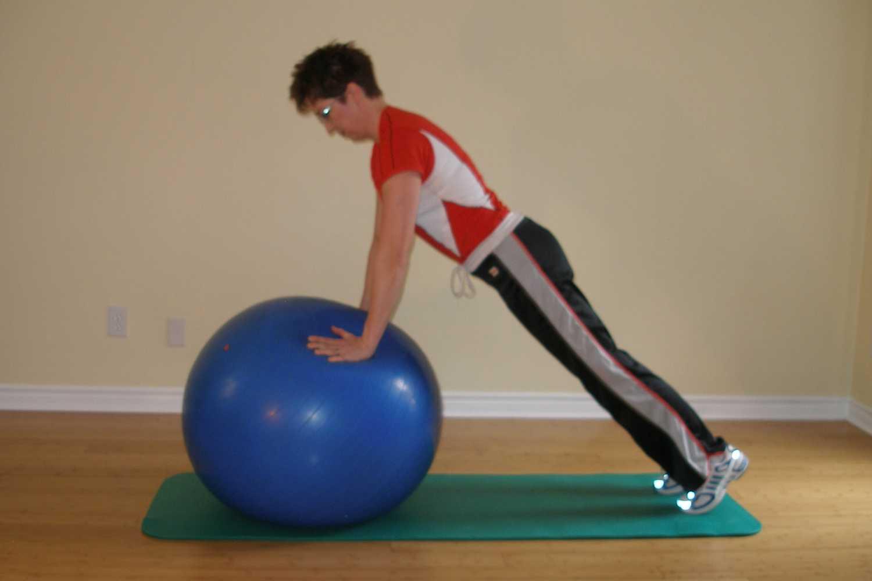 pushups on ball