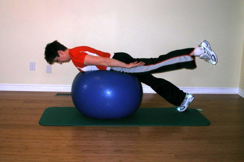 prone leg raise finish