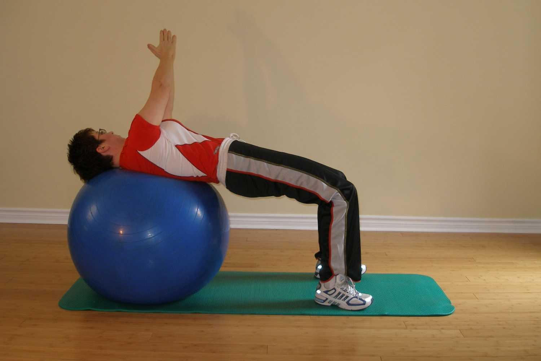 reverse bridge twist ball exercise