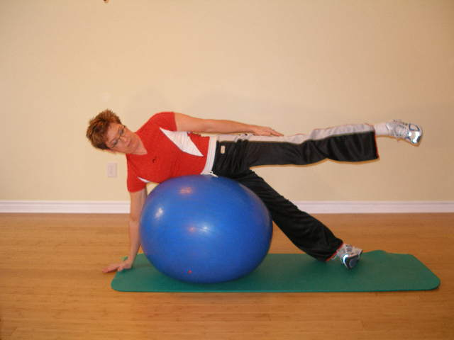 trunk roll ball exercise finish