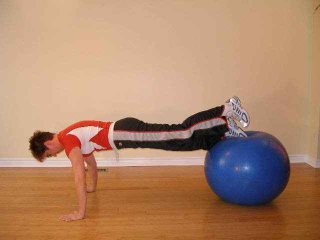 exercise ball front spin 2