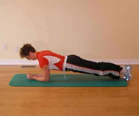 Plank exercise final position