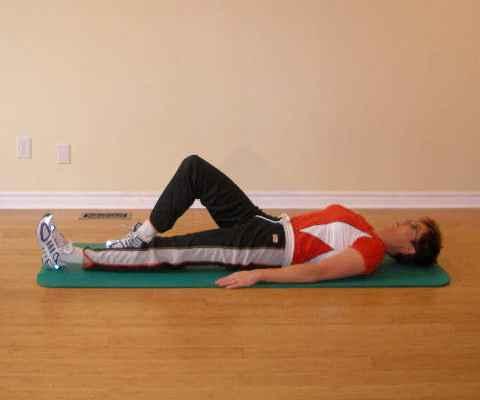 Leg raise starting position