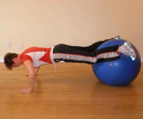 exercise ball push offs start