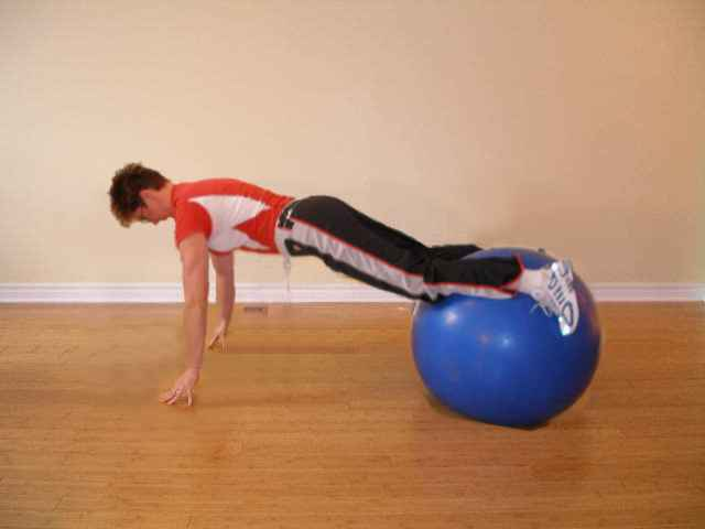 exercise ball push offs