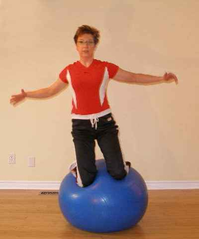 exercise ball side jump position 2