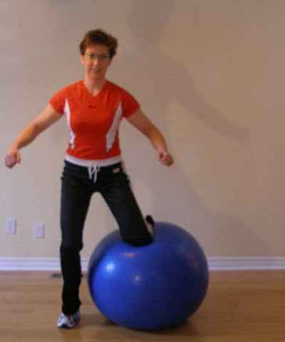 exercise ball side jump position 3