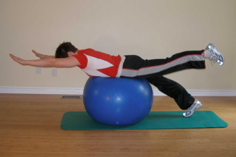 single legged superman exercise alternating leg raises
