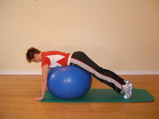 exercise ball trunk roll 2 start