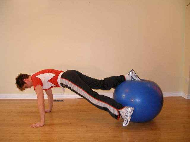 exercise ball front spin 1