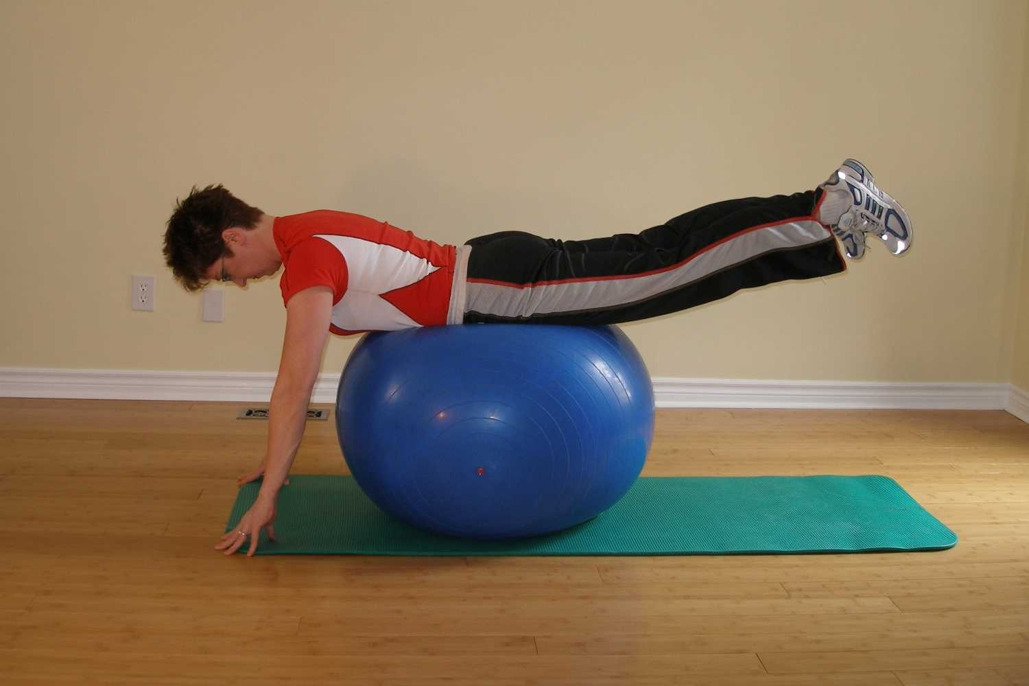pike over the exercise ball finish
