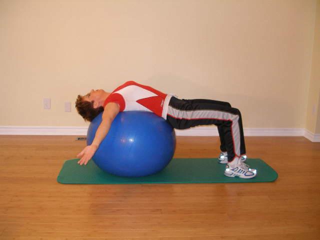 Ball stretching pics