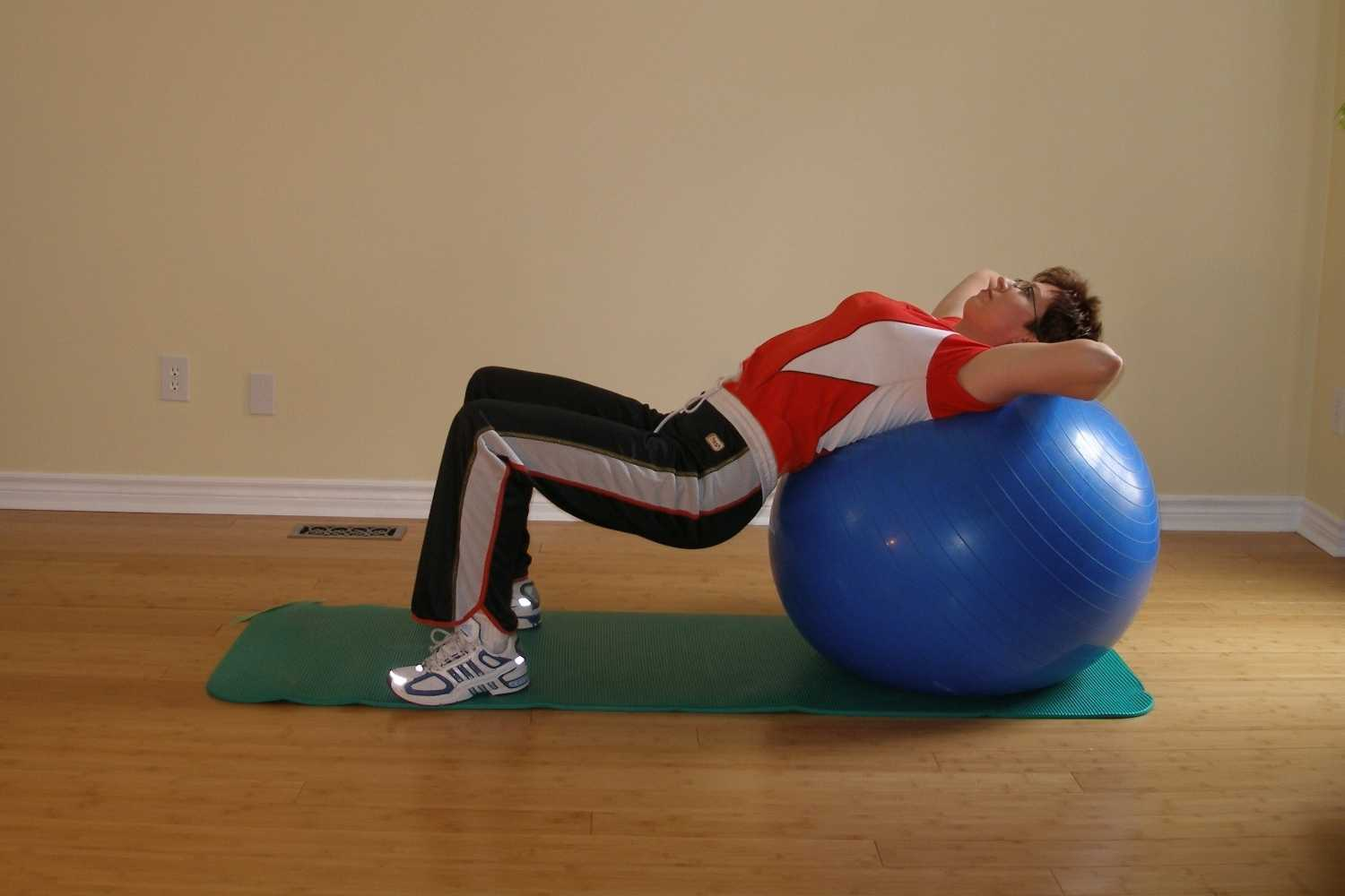 exercise ball reverse bridge