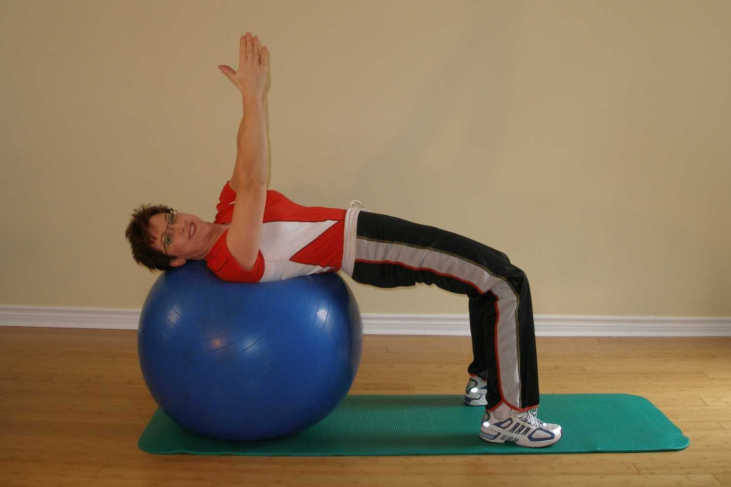 reverse bridge twist starting position