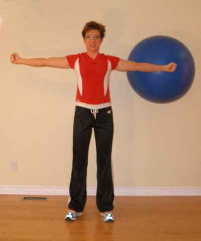 hold up 2 ball exercise