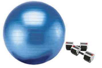 strength training using the exercise ball