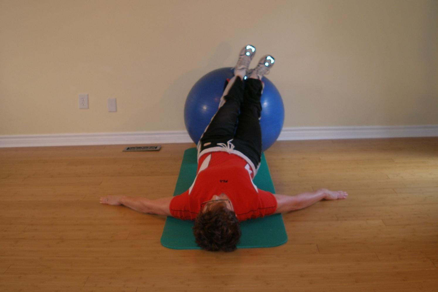 exercise ball bridge