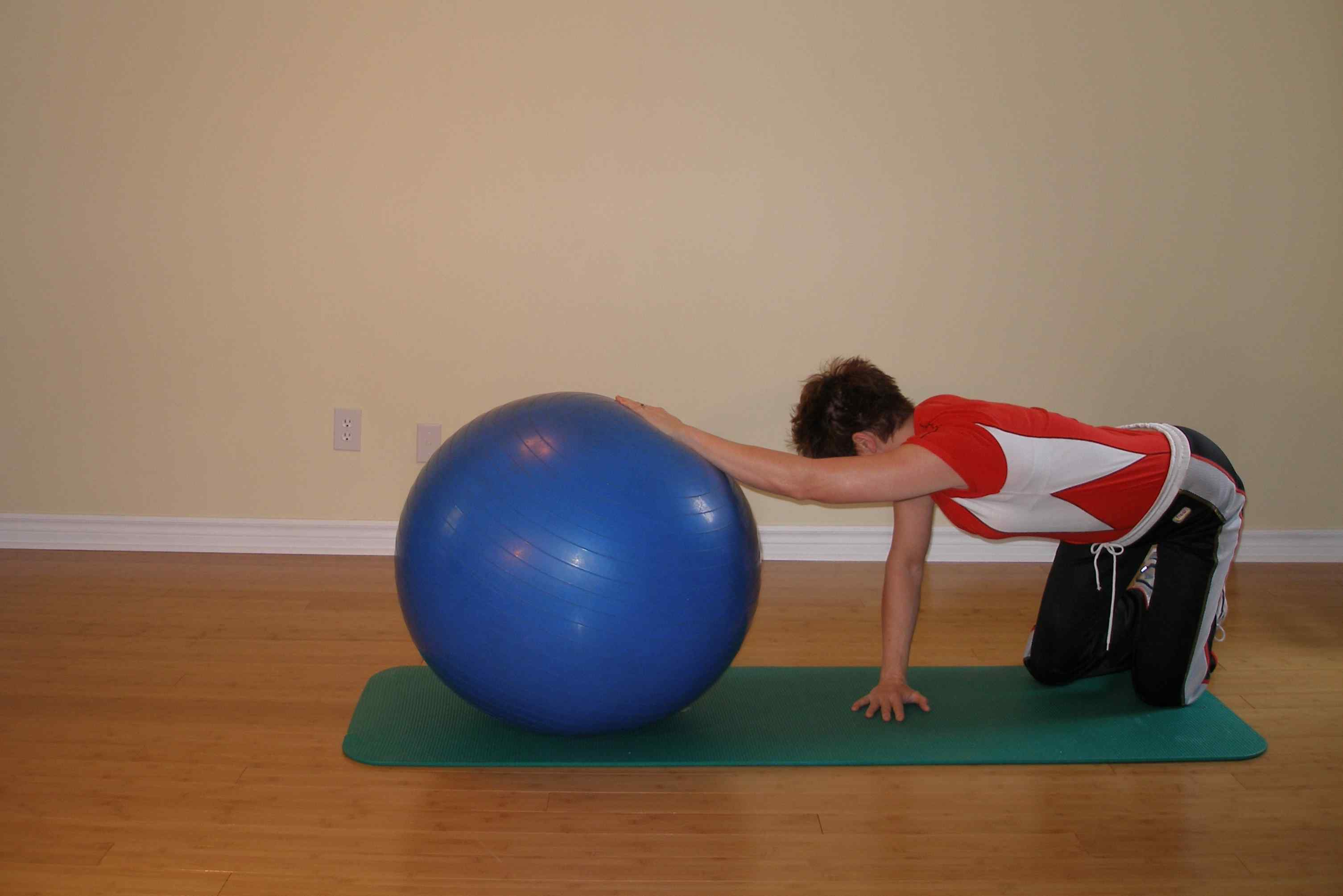 side stretch with exercise ball