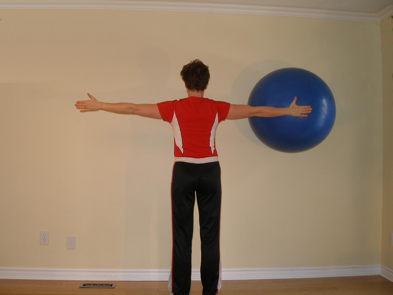 hold up  ball exercise