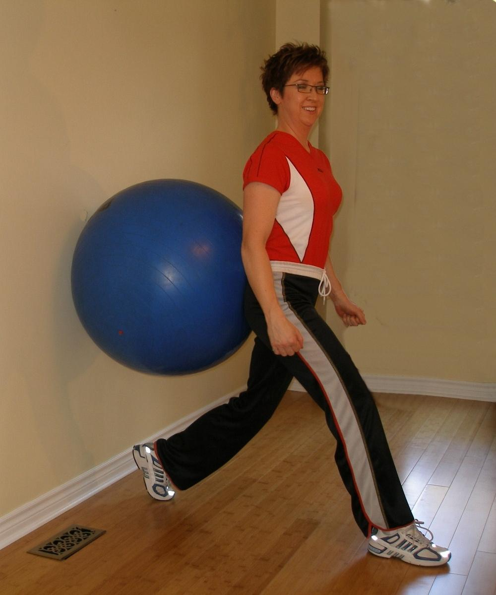 exercise ball starting position